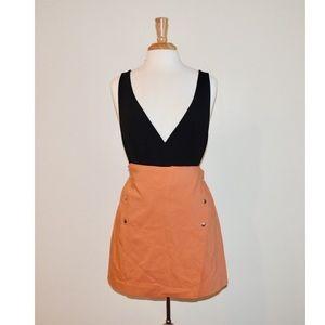 Zara Orange Mini Skirt